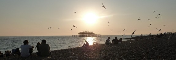 A sunny beach in Brighton during the 2011 MA conference