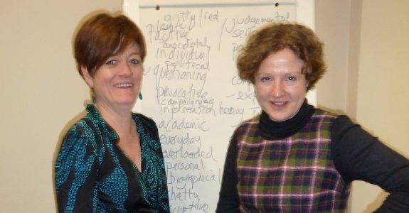 TextWorkshop's Dea and Rebecca in Barnsley